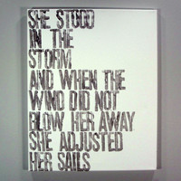 She Stood Canvas Painting
