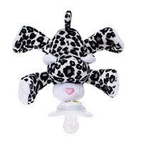 Nookums Paci-Plushies Buddies - Snow Leopard Pacifier Holder