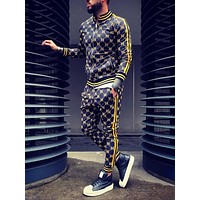 2020 New Mens Sets 2 Piece New Men' s Fashion Jacket and Sport joggers Pants Set Tracksuit Men Casual Sports Suit M-XXL