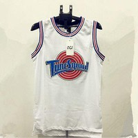 Tune-Squad-Space-Jam-Basketball-Jersey-Michael-Jordan-23-Black-White Stitched