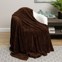 Ultra Soft Chocolate Brown Design Twin Size Microplush Blanket