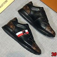 LV Louis Vuitton New Fashion Men Casual Sport Shoes Sneakers Black