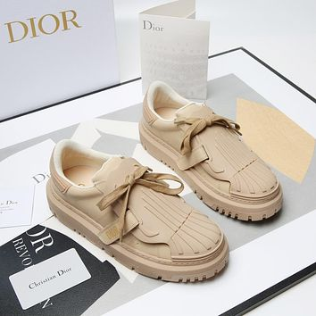 Dior CD Hot Sale Fashion Ladies Platform Platform Shoes Trendy Ladies Low Top Shoes