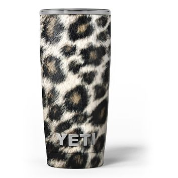 Light Leopard Fur - Skin Decal Vinyl Wrap Kit compatible with the Yeti Rambler Cooler Tumbler Cups