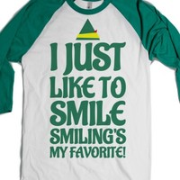 i just like to smile smiling's my favorite t-shirt-T-Shirt