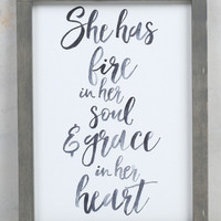 Life & Grace Sign - Gifts/Home Decor