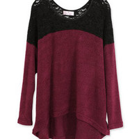 *Free Shipping* Wine Red Women Cotton Top FZ60519wr from efoxcity