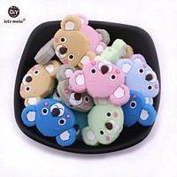 Let's Make Baby Gifts Siilicone Beads Koala 10pcs Food Grade DIY Siilicone Teething Nursing Necklace Accessories Beads Teether