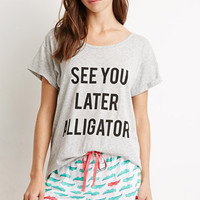 Later Alligator PJ Set