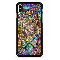 Disney Characters Stained Glass iPhone X Case