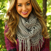 Hold On Tight Scarf: Gray  - One