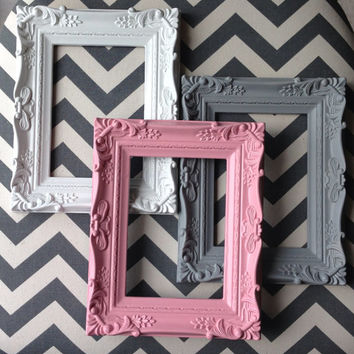 Baby room nursery Ornate Baroque picture frame 5x7 shabby chic vintage wedding table number sign French country rococo