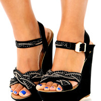 Knot A Bad Thing Wedges: Black