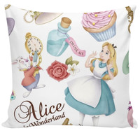 Alice in Wonderland Couch Pillow
