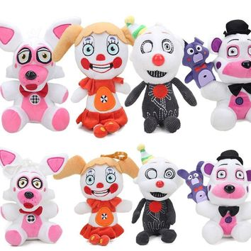 15cm 25cm  At  Figure Sister Location Funtime Freddy Fazbear Foxy Plush Toy Keychain Collectible  Plushie