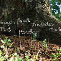 Set of 5 Custom Garden Markers Other quantities by theFolk on Etsy