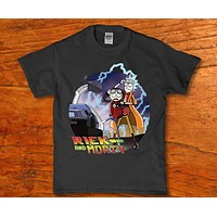 Rick and Morty to the future adult funny t-shirt