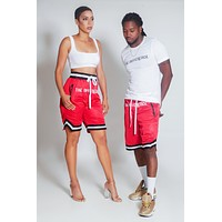 The Difference Basketball Shorts-Red