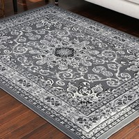 0532 Gray Oriental Area Rugs