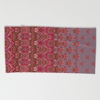 Farah Blooms Red Beach Towel by Aimee St Hill