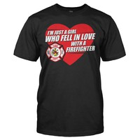I Fell In Love With a Firefighter - T Shirt