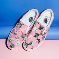 THIERRY BOUTEMY FOR OPENING CEREMONY COMPOSITION CHECKERED VANS SLIP-ONS - WOMEN - THIERRY BOUTEMY FOR OPENING CEREMONY