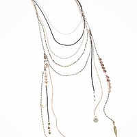 Free People Womens Chain Waves Layering Necklace -