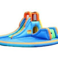 Amazon.com: Bounceland Inflatable Cascade Water Slide with Pool: Toys & Games