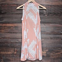 Jungle Fever Dress in Peach