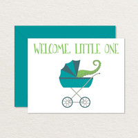 Welcome Baby Card / Funny Baby Card Printable / Congratulations Baby Card / Printable Congratulations Card / Tentacle Card A2 / Nerdy Baby