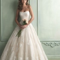 Allure Bridals 9121 Lace Ball Gown Wedding Dress