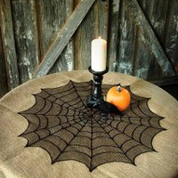 American Made Halloween-Spider Web Table Toppers-USA Made Products|Norton's USA