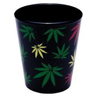 - Wrapped Rasta Leaf Shot Glass - each - Party Supplies