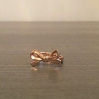 Kate Spade Size 6 Bow Ring in Rose Gold Designer Jewelry