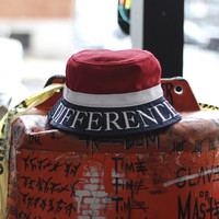 Civil - Mesh Bucket Hat - Red, White and Blue