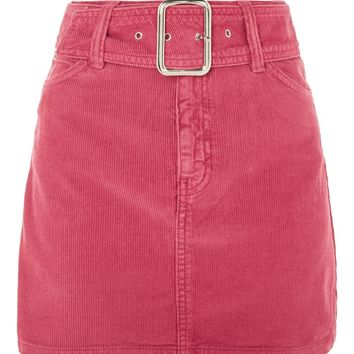 MOTO Buckle Cord Skirt - New In Fashion - New In