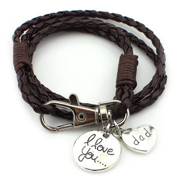 Leather Weave Bracelets  Vintage Anchor Bracelet