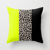 Leopard National Flag V Throw Pillow by M Studio