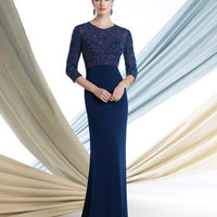 Mother of the Bride Dresses – Montage by Mon Cheri 213963 Long Sleeves