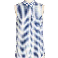 Americana Mid-length Sleeveless Gift of Gingham Tunic