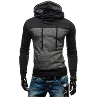 Hoodies Cotton Casual Patchwork Hats [10669396739]