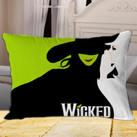 New Wicked The Musical on Rectangle Pillow Case