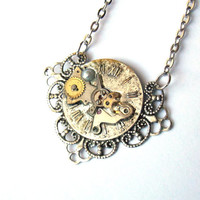 """Victorian Steampunk Necklace """"The Passage of Time"""" No. 2"""