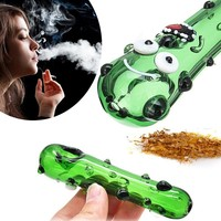 Cute Herb Tobacco Pipe Glass smoking pipe for smoking weed Cigarette Holder Filter For Men Universal Travel Smoke Accessories