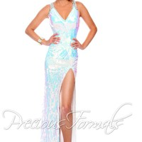Precious Formals Cut Out Back Prom Dress P9008