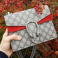 GG classic tote bag GG print personality double-headed snake logo fashion ladies one-shoulder messenger bag