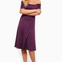 Off The Shoulder Dolly Purple Dress