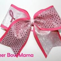 breast cancer cheer bows - Google Search