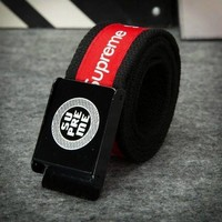 SUPREME Canvas Fashion Belt