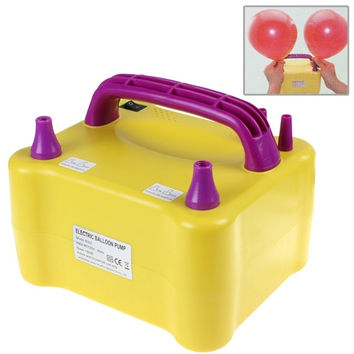 Bright Yellow 600W Electric Balloon Inflator with Two Nozzles Dual Inflation Ports Balloon Pump = 1945736900